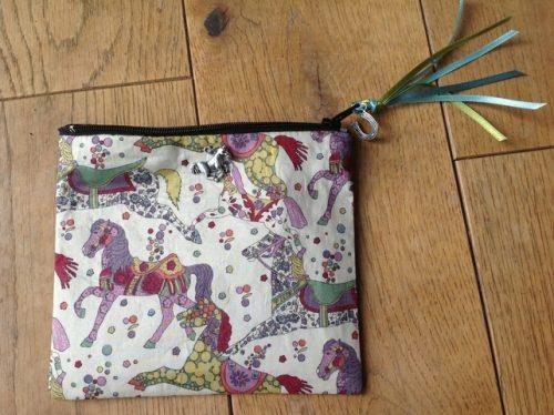 Coin purse - Liberty My Little Pace design in purple multicolour colourway