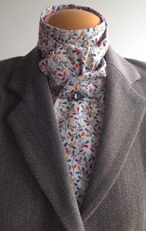 Shaped to tie 100% cotton stock - Scandi multi leaf