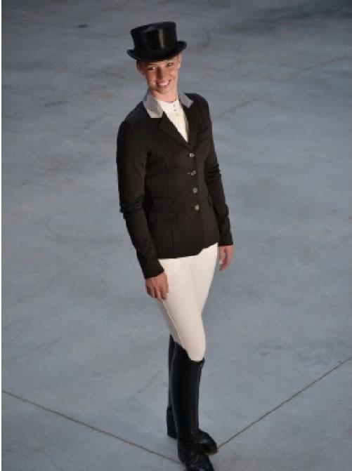 Esperado Victoria show jacket in black/silver