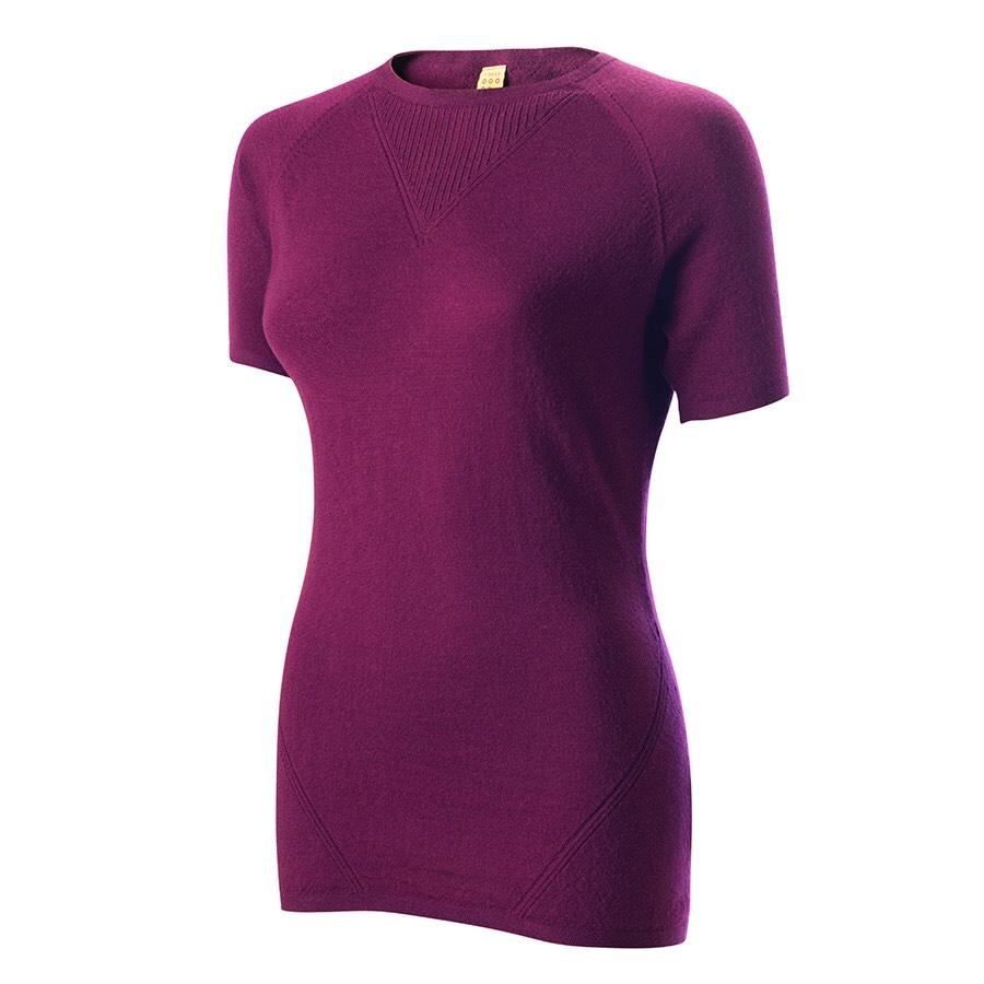 Findra Route merino t-shirt in plum