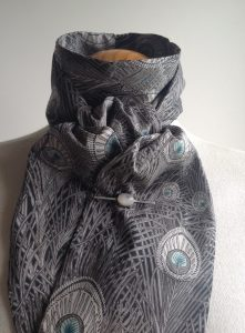 Shaped to tie Liberty tana lawn stock - Hera charcoal colourway