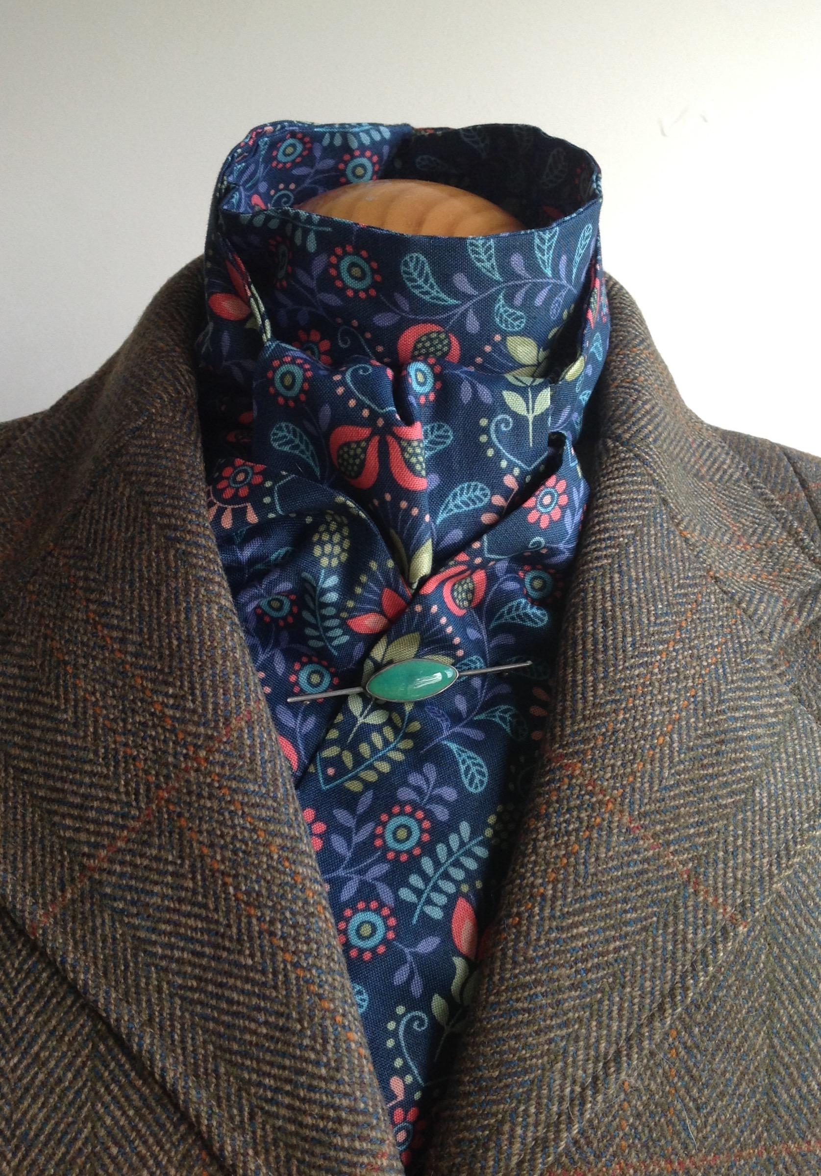 Shaped to tie 100% cotton stock - Bohemia multi colourway