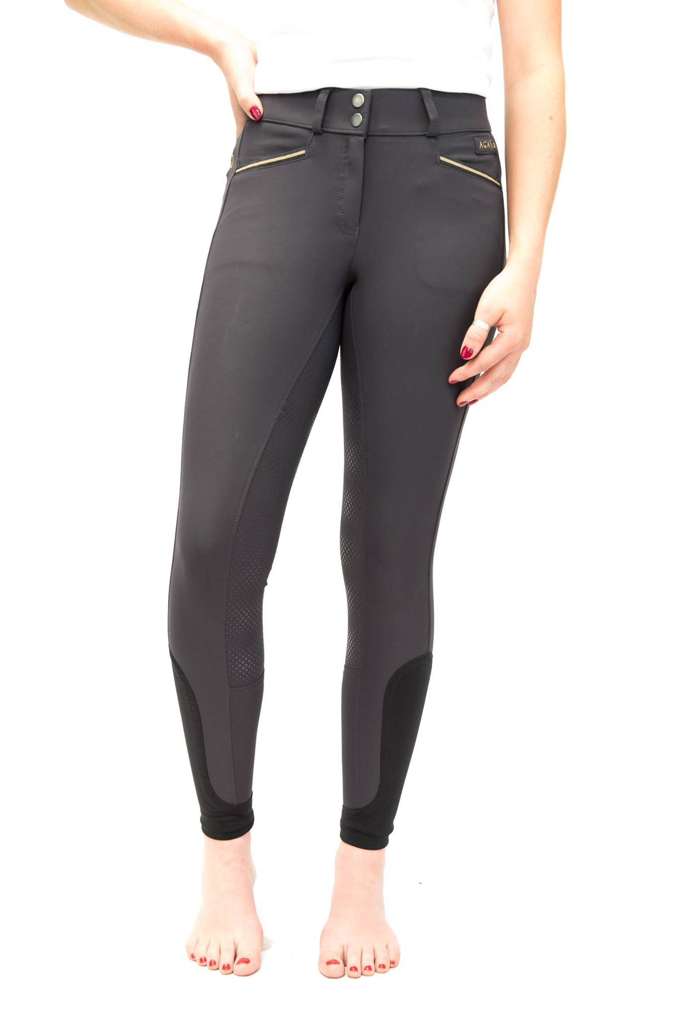 Agaso Cambridge breeches short leg length in anthracite