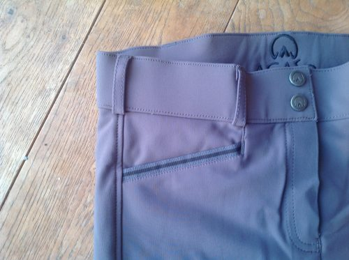 Agaso Cambridge breeches short leg length in mid grey