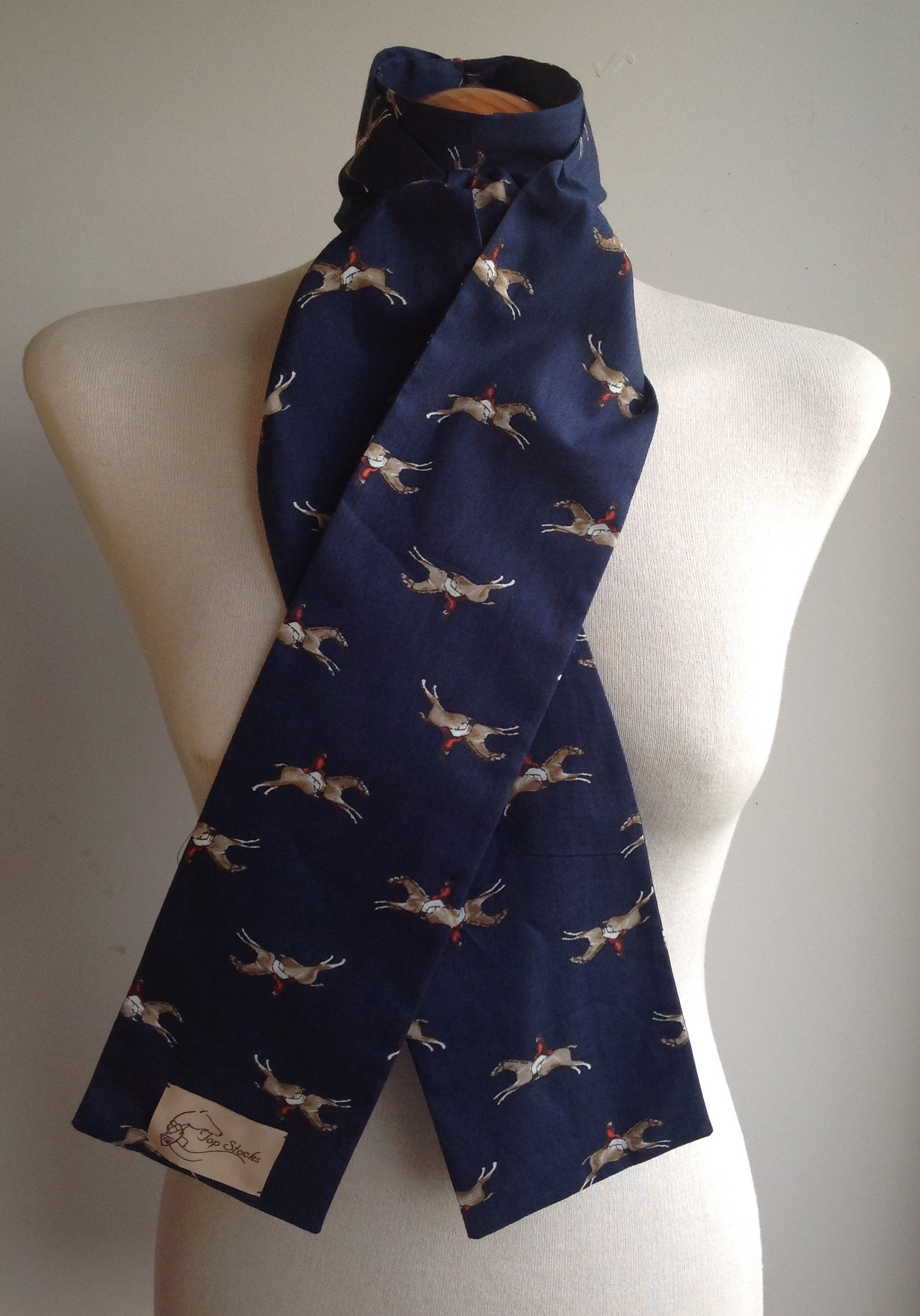 Shaped to tie 100% cotton riding stock - Gallop navy