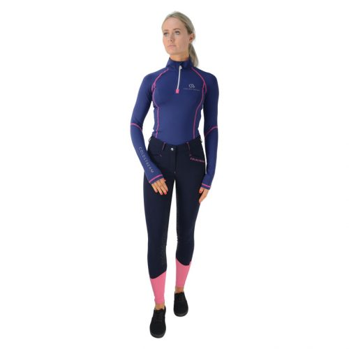 Coldstream Lennel base layer in navy/raspberry
