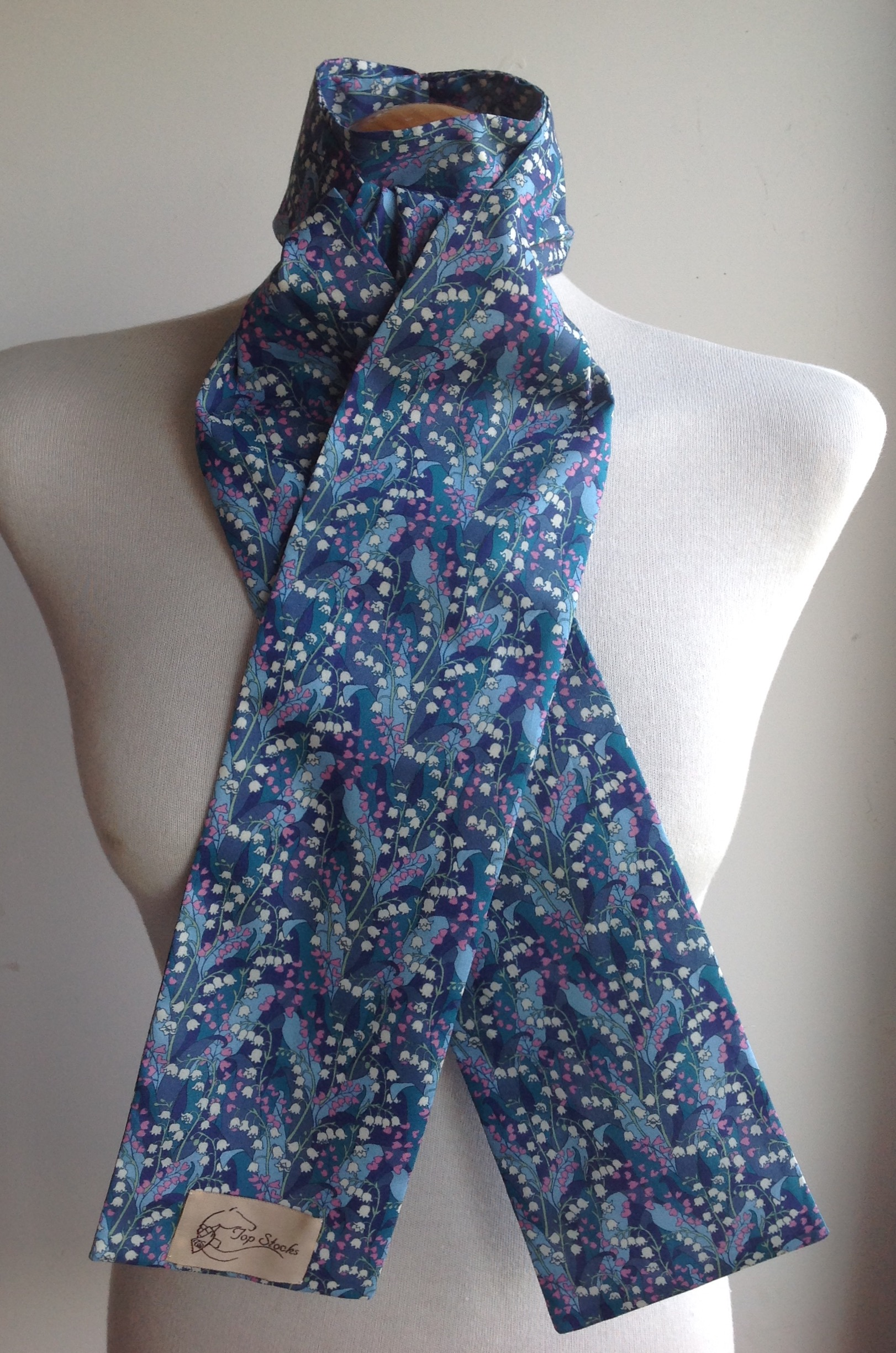 Shaped to tie Liberty tana lawn stock - Wylde blue multi