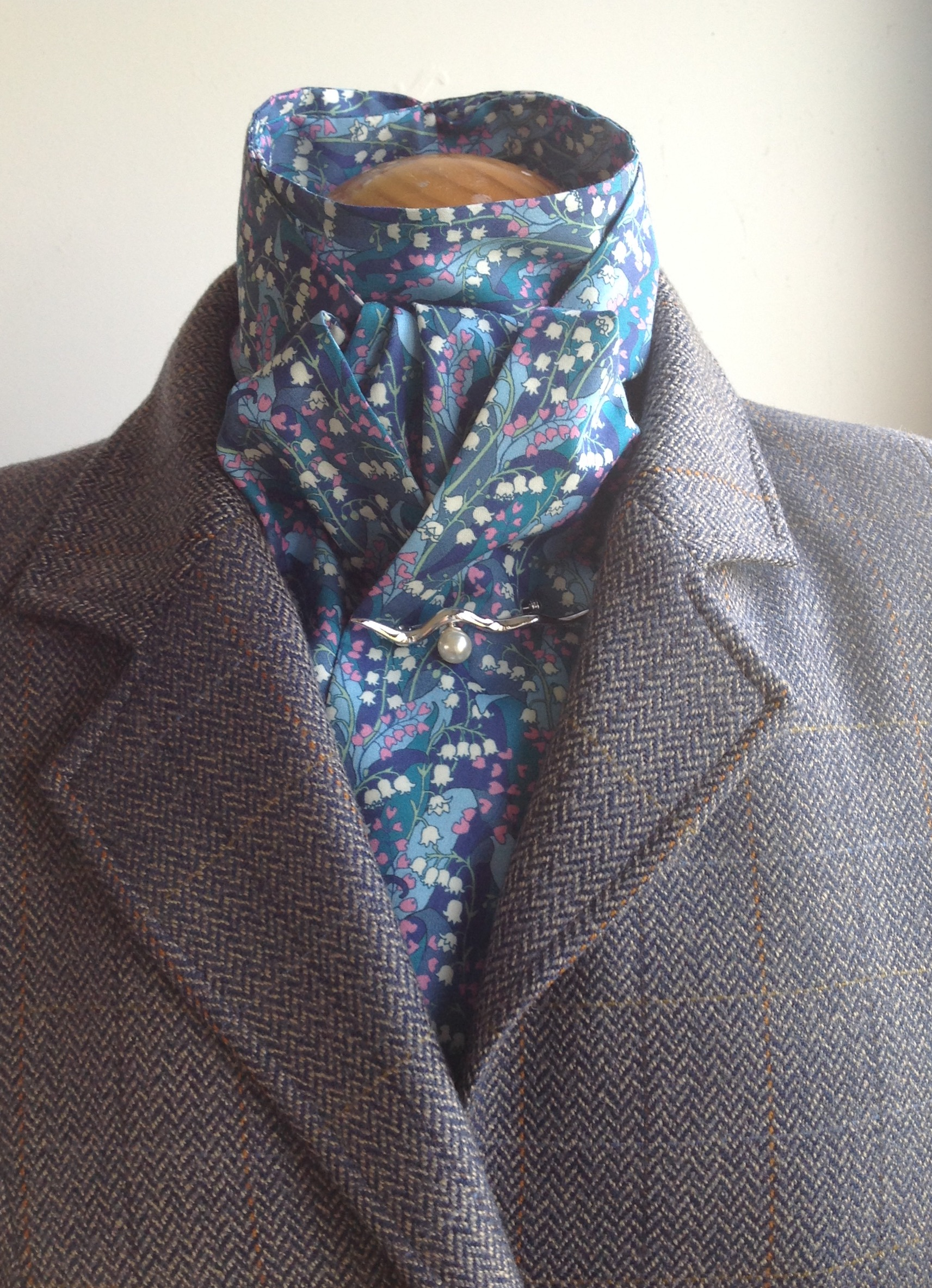 Shaped to tie Liberty tana lawn stock - Wylde blue multi colourway