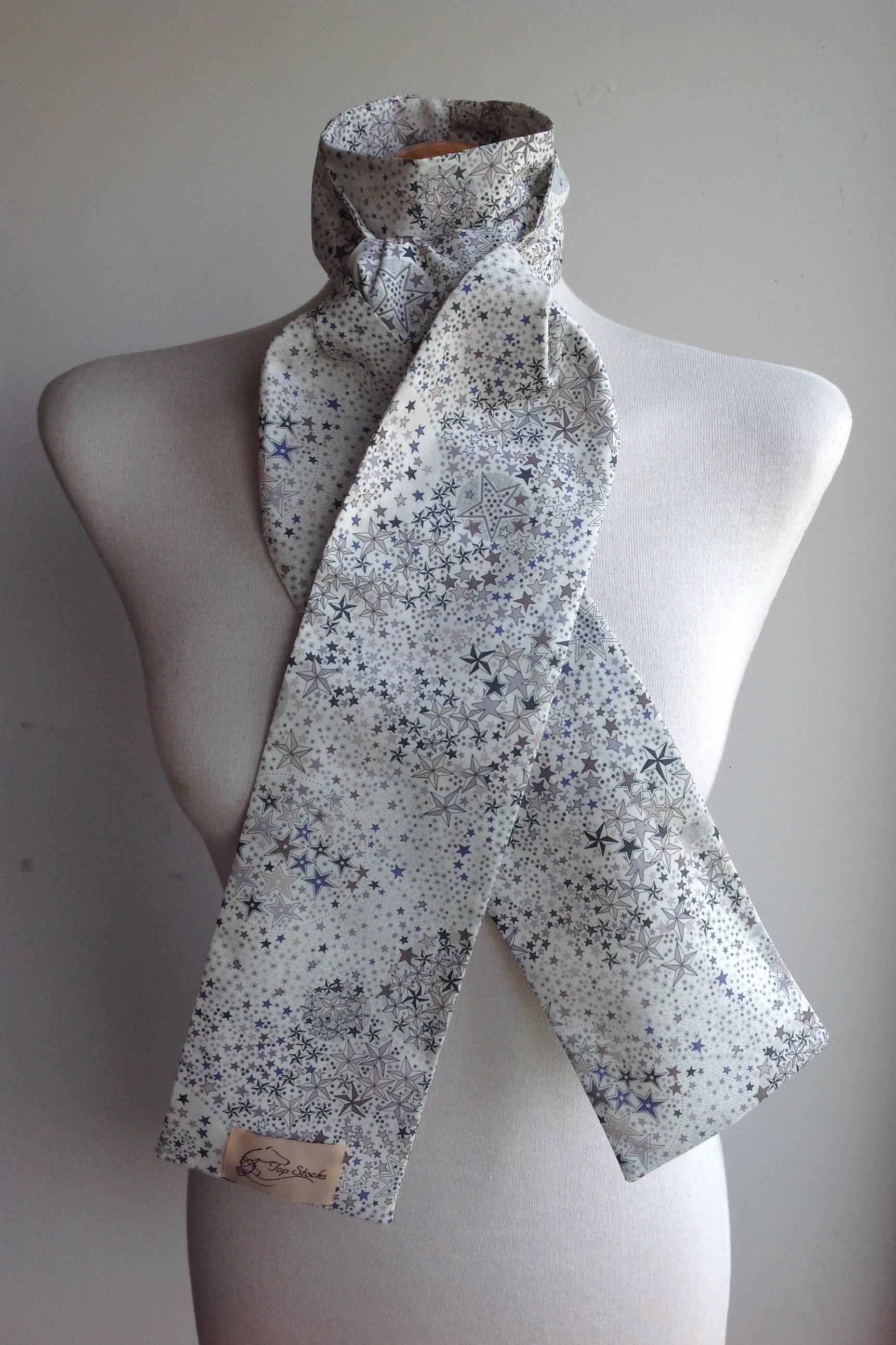 Shaped to tie Liberty tana lawn stock - Adelajda greys colourway