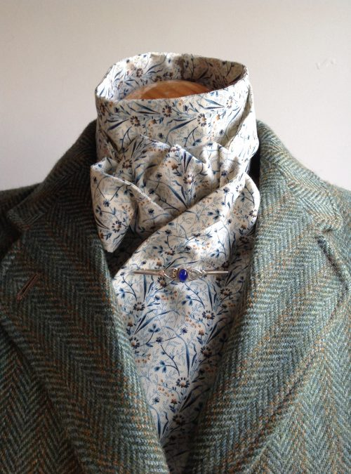 Shaped to tie 100% cotton stock - Blue Meadow