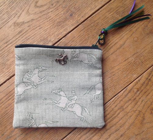 Coin purse - Emily Bond jumping horses design