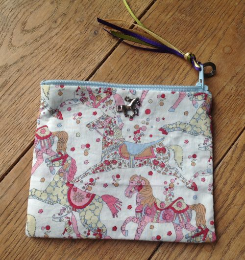 Coin purse- Liberty My Little Pace design in pastel multicolour colourway