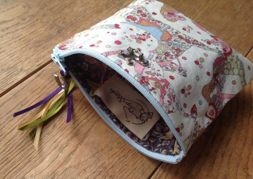 Coin purse - Liberty My Little Pace design in pastel multicolour colourway