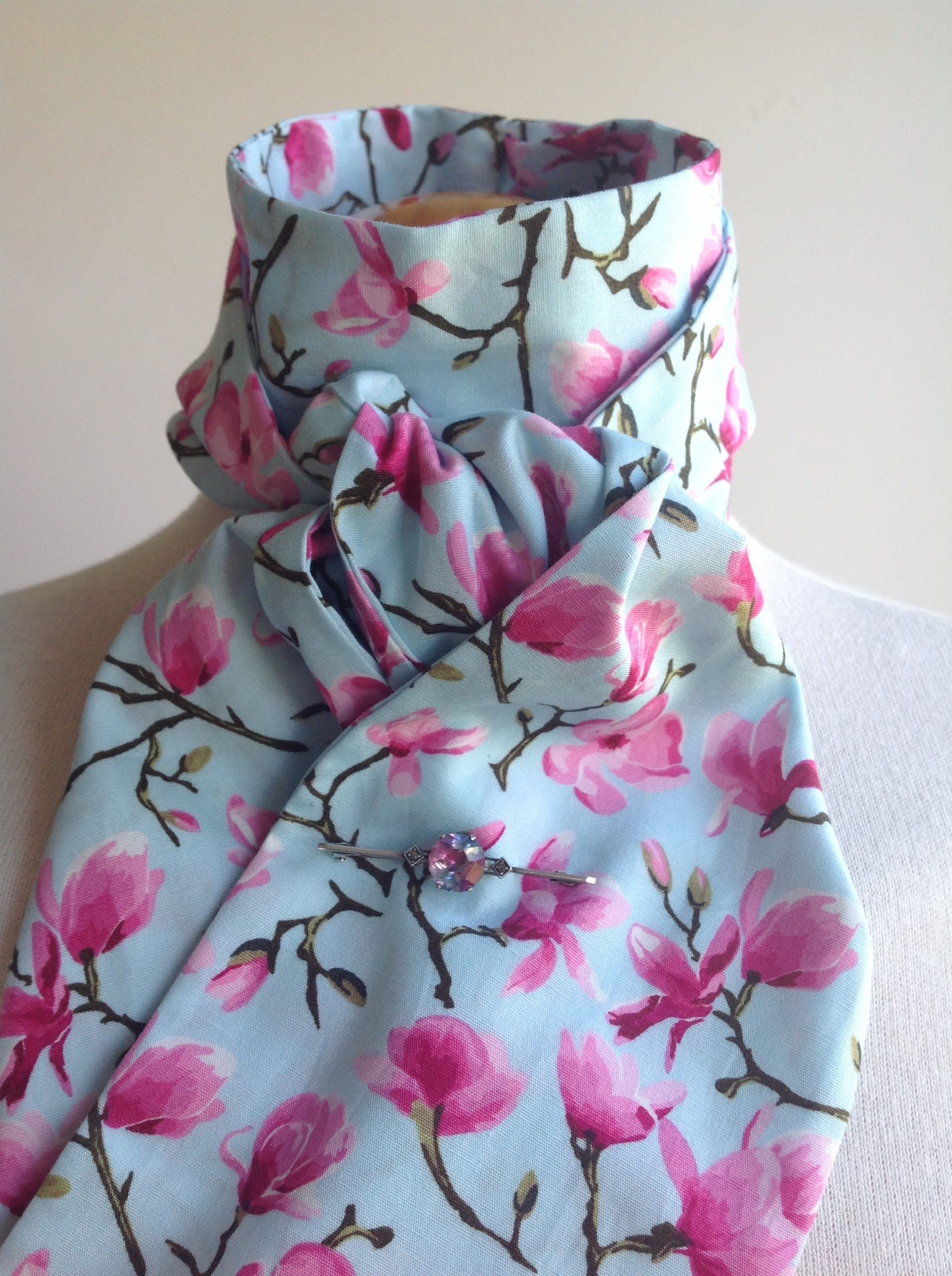 Shaped to tie 100% cotton stock - Cherry Blossom