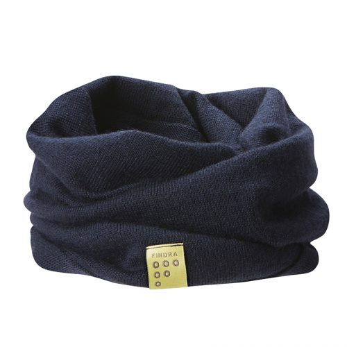 Findra Betty neckwarmer in dark navy