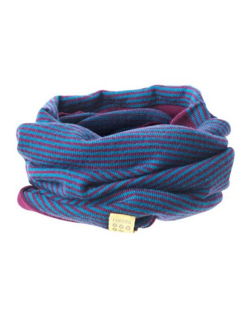 Findra Betty neckwarmer in eggplant/teal