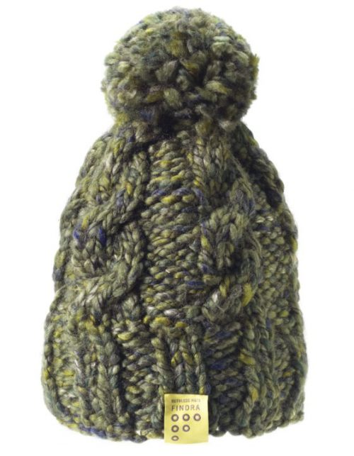 Findra cable bobble hat in bracken