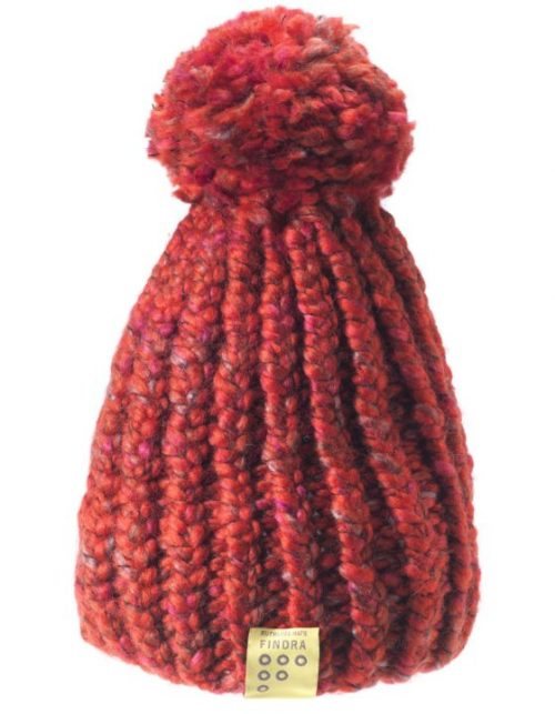 Findra bobble hat in inferno