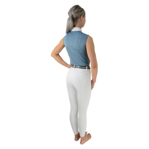 HyFashion Sophia sleeveless show shirt in Aegean blue