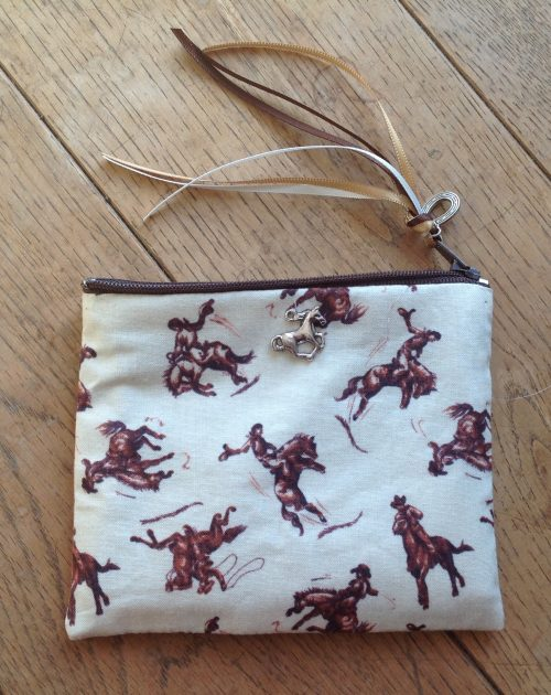 Coin purse - bucking bronco design