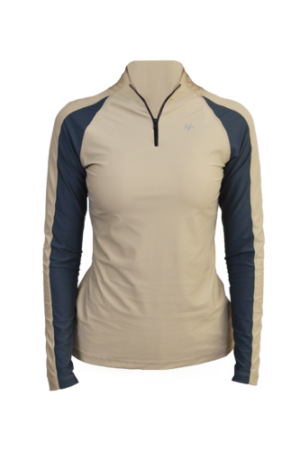 DVR Equestrian Kitty base layer in camel/graphite