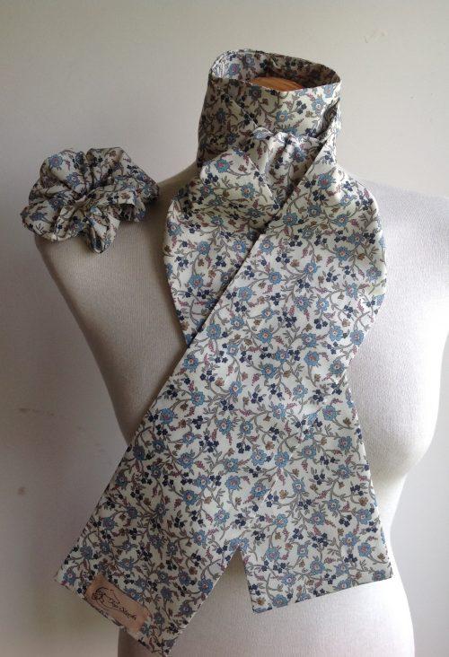 Shaped to tie Liberty tana lawn stock - Hannah Fay blue