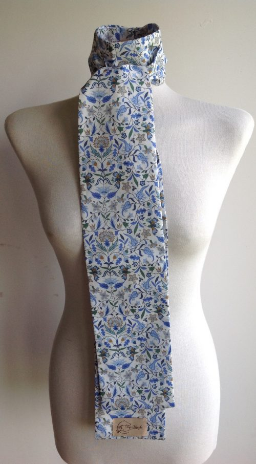 Shaped to tie Liberty tana lawn riding stock - James Francis blue multi