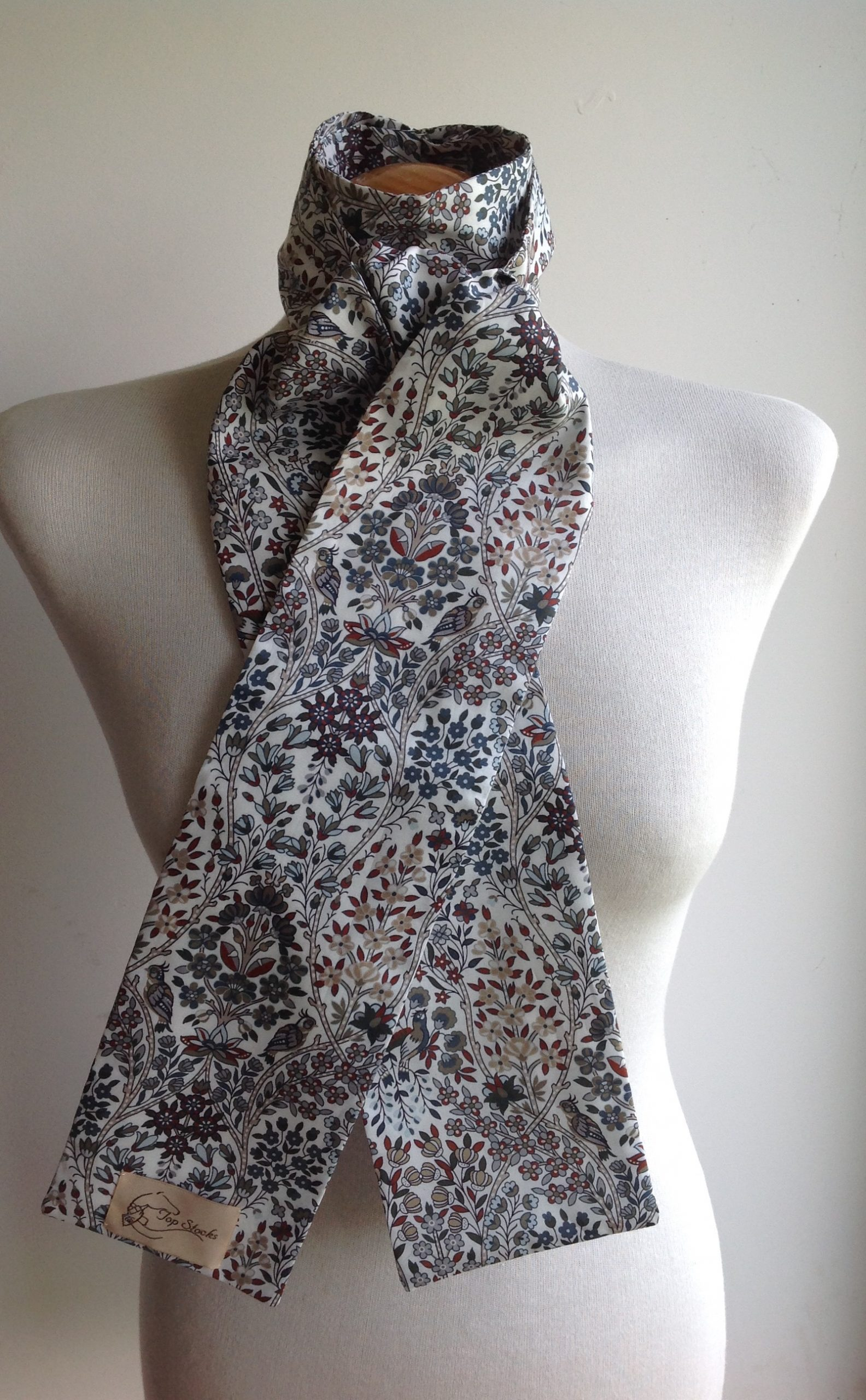 Shaped to tie Liberty tana lawn stock - Kensington Park grey multi