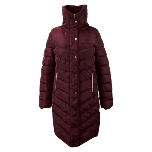 Coldstream Kimmerston long quilted coat in Windsor wine